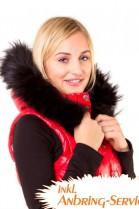 Blacknight fur stripes Size: L Felkapuze attaching Service