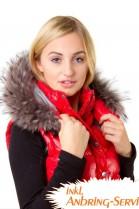 Premium Fur Hoodie Size: L Royal gray hood stripes