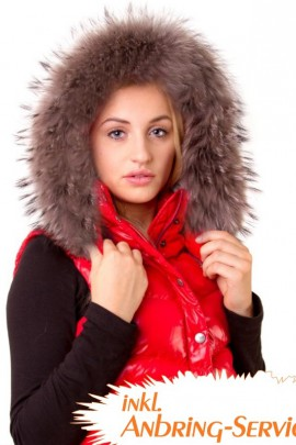 Premium Strip fur hood XL gray Royal attaching Service