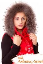 Premium Strip fur hood XL gray Royal attaching Service