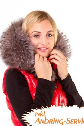 Fur hood incl. Attaching Service XXL Royal Grey Premium