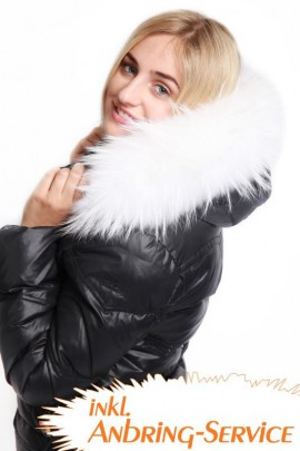 Premium White Snow Size: XL fur hood including attaching Service.