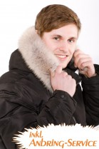 Coyote fur hood light brown incl. Attaching Service