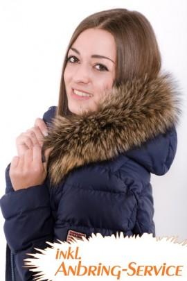 Kapuzenkragen Premium Raccoon braun inkl. Anbringen lassen