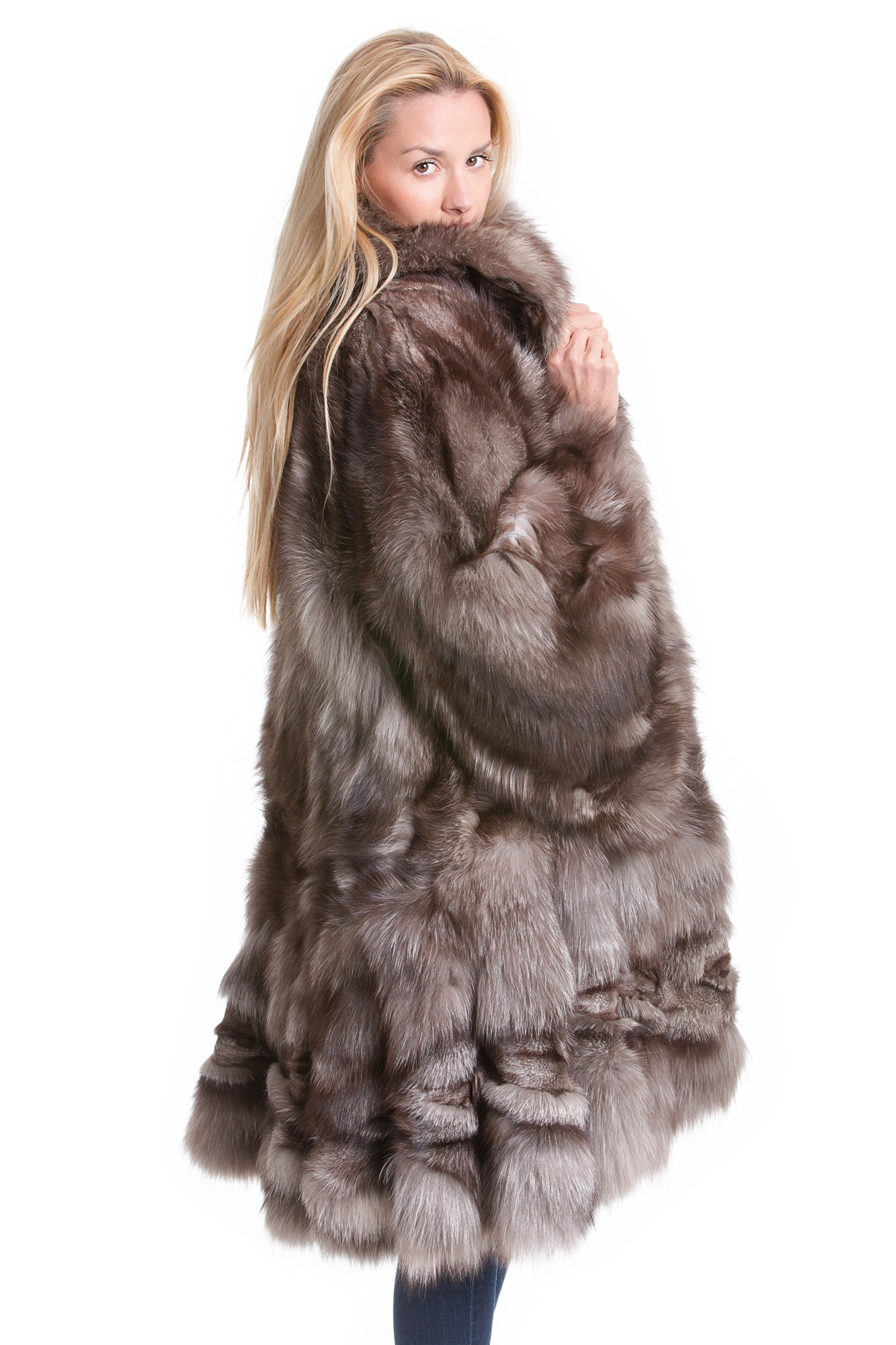 Buy silberfuchs swinger short coat overcoat real fur gray fur online at your furs online shop - Bilder fur wohnungsdekoration ...