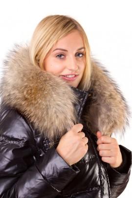 Fur strips Size: XXL made to measure light brown fur hood stripes
