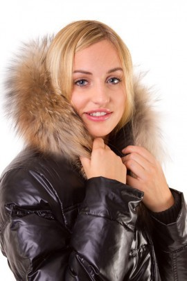 Hood Fur Size: L to measure dark brown fur hood fur