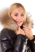 Fur Hoodie Size: XL made to measure dark brown fur hood