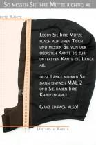 Fellkapuze Size: L nach Maß Black Night schwarz Fellstreifen