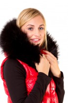 Fur collar Size: XXL made to measure fur hood black Black Night