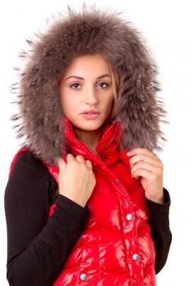 Fur Collar Custom Made Size: XL Royal Grayskin strips