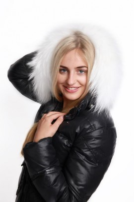 Fur Hood Premium Size: L to measure white white snow Fur