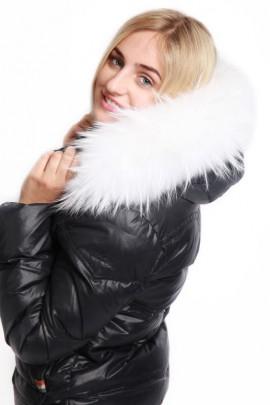 Fur strips to measure Size: XL Premium White White Snow Fur