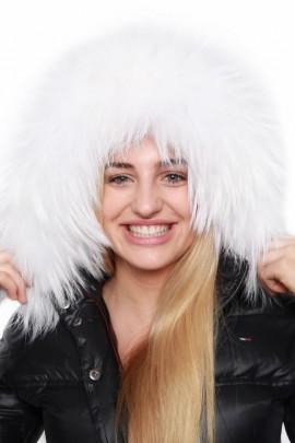 Kapuzen Fell nach Maß Size:XXL Fellkapuze weiß WHITE SNOW