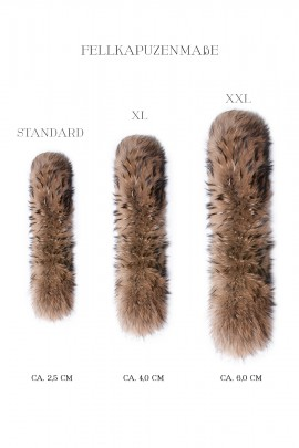 Premium Gold Dark brown fur hood fur hood stripes