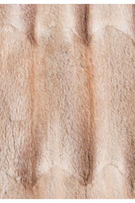 Pelz Innenfutter aus recyceltem Bisam hellbraun