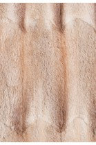 Fur lining made of recycled light brown muskrat