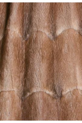 Pelz Innenfutter aus recyceltem Bisam medium braun