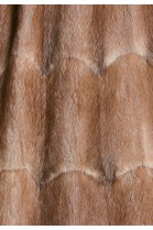 Fur lining made of recycled Bisam medium brown