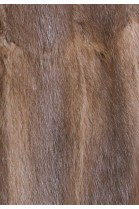 Pelz Innenfutter aus recyceltem Bisam dark braun