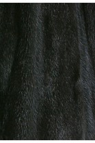 Fur lining made of recycled mink black