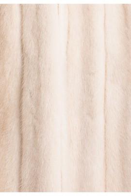 Nerz Innenfutter aus recyceltem Fell in pearl weiß