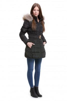 Winter Jacke mit Pelz Finnraccoon Besatz Kapuzenstreifen