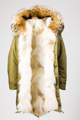 Urban Winter Parka Golden Island Fuchs mit Fellkapuze beige