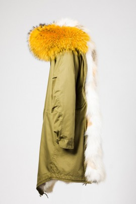 Urban Winter Parka Golden Island Fuchs mit Fellkapuze gelb