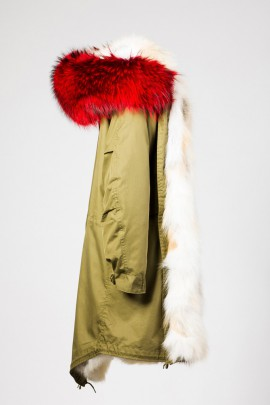 Urban Winter Parka Golden Island Fuchs mit Fellkapuze rot