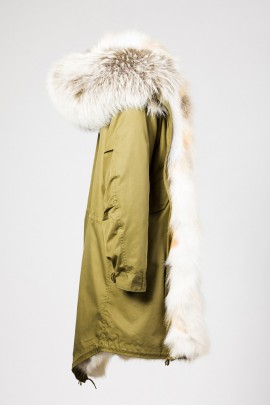Urban Winter Parka Golden Island Fuchs mit Fellkapuze Stone