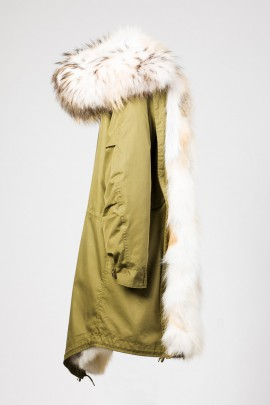 Urban Winter Parka Golden Island Fuchs mit Kapuze Top White