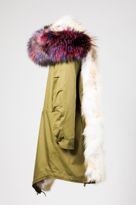 Urban Winter Parka Golden Island Fuchs mit Fellkapuze lila