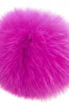 Kanin Fellbommel Ultra Pink der Luxus echt Pelz Bommel