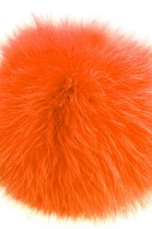Kanin Fell Bommel Orange Noble of real fur bobble