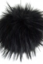 Premium Fell Bommel black from Finnraccoon real fur bobble