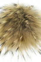 Premium fur Bommel light brown genuine fur Bommel Nature
