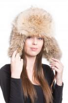 Madam fur Coyote fur hat unisex