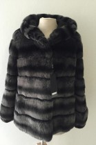 Rex Kanin Jacke / Echtfel Real Fur Chinchilla-Optik