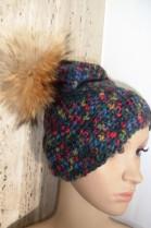 Fur Bobble Hat Finnraccoon brown