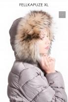 Fur Hood Fur Hoodie coat style parka fur strip Premium