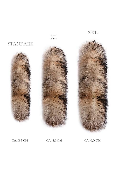 Fell Parka Style Kapuzen Streifen Fur Hoodie Fashion Design