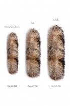 Fur parka style hooded stripe Fur Hoodie Fashion Design