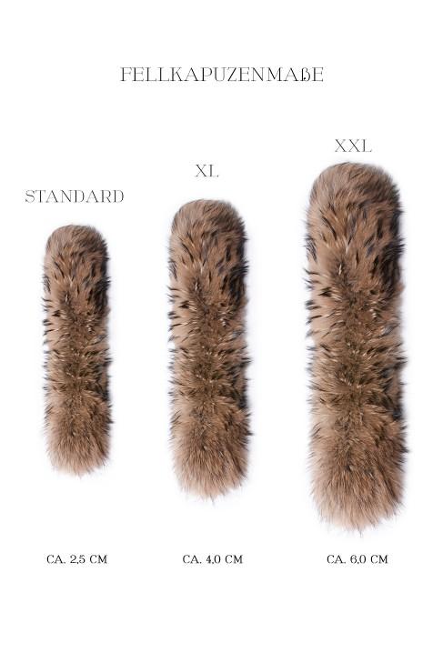 Pelz Premium Gold dark brown Fur Hoodie Style Fashion Fox