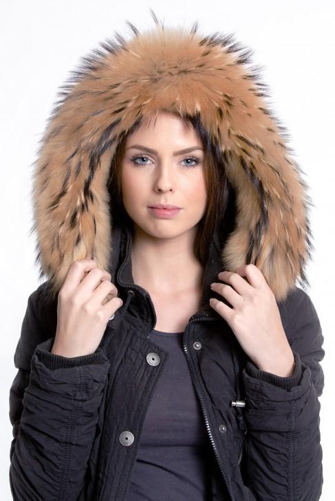 Premium Gold Medium Fellkapuze Fur Hoodie Style Fashion