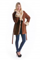 Sheepskin Leather Fashion Style Jacket fur collar design fashion