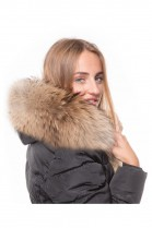 Fur Hood Exquisit XXL dark brown excellent quality