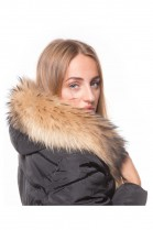 Fur Hood Exquisit XL brown excellent quality