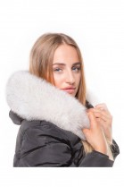 Fur Hood Exquisit XL white Nature excellent quality
