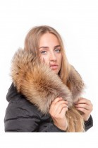 Dream Fur Hoodie XXL Fellkapuze Exquisit Luxury Fellstreifen